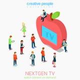 Next generation television Stock Photos