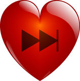 Next. Glassy Heart. Royalty Free Stock Images