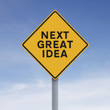 Next Great Idea. A modified road sign indicating Next Great Idea Stock Photo