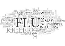 The Next Killer Flu Can We Stop It Text Background  Word Cloud Concept Royalty Free Stock Photography