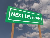 Next level sign Royalty Free Stock Photography