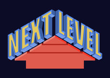 Next Level T-shirt Typography, Vector Illustration Stock Photography