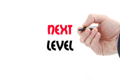 Next level text concept. Isolated over white background Royalty Free Stock Image