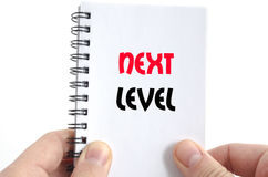 Next level text concept. Isolated over white background Royalty Free Stock Images