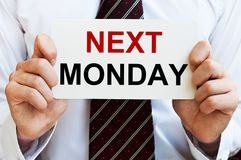 Next Monday Stock Images