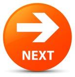 Next orange round button. Next isolated on orange round button abstract illustration Royalty Free Stock Photo
