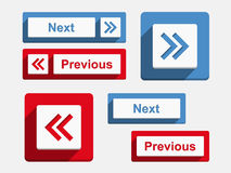 Next and Previous Buttons. Flat design Royalty Free Stock Photo