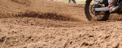 Next on the rear wheel motocross bike Royalty Free Stock Photos