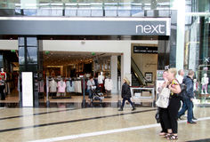 Next shop in a mall. In Glasgow, UK Royalty Free Stock Photography