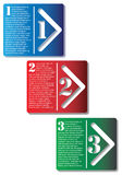 Next Step Arrow Boxes. In vector format.Sample text is in separate layer Stock Image