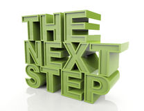 The Next Step. 3d concept design- on white background Royalty Free Stock Images
