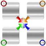 Next Step Metal Box with Colored Arrows Royalty Free Stock Image