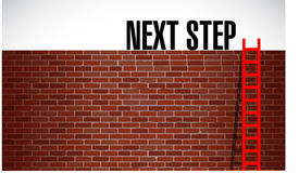 Next step over a wall illustration Stock Photos