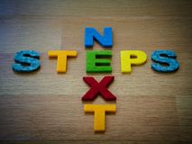 Next steps concept stock photography