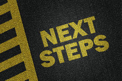 next steps Stock Image