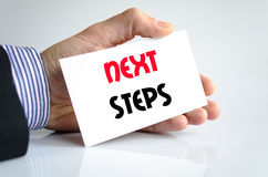 Next steps text concept Royalty Free Stock Photos