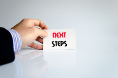 Next steps text concept Royalty Free Stock Photo