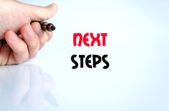Next steps text concept Royalty Free Stock Image