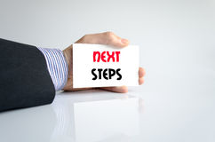 Next steps text concept Stock Image