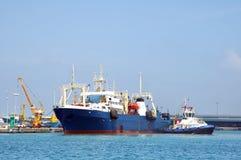 Next stop. Ship leaving harbor Royalty Free Stock Photo