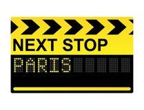 Next Stop Paris Sign. Next stop Paris mechanical display transport sign Royalty Free Stock Image