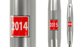 Next stop year 2015. 2015 stop button. Conceptual image for the new year Royalty Free Stock Image