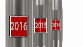 Next stop year 2015. 2015 stop button. Conceptual image for the new year Royalty Free Stock Images
