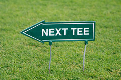 Next tee Royalty Free Stock Image