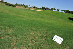 Next tee, El Rompido Golf course, Andalusia, Spain Stock Photos