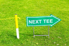 Next tee pointer Royalty Free Stock Images