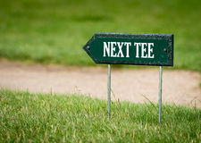 Next tee sign Royalty Free Stock Photos