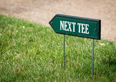 Next tee sign Stock Photos