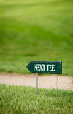 Next tee sign Stock Photography