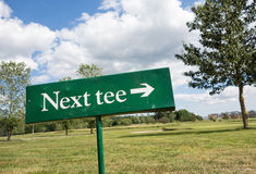 Next tee Royalty Free Stock Photos