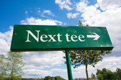 Next tee Stock Image