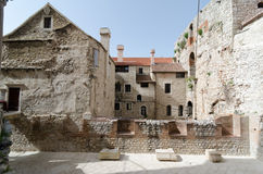 Next to Diocletian's Palace. Old houses next to Diocletian's Palace, Split, Croatia Stock Images