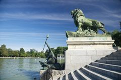 Next to El Retiro pond in Madrid Stock Image