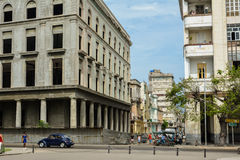 Next to revolution museum. Street next to the revolution museum, havana royalty free stock photography