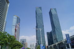 Next to the Shenzhen Convention and Exhibition Center building landscape, in China Royalty Free Stock Image