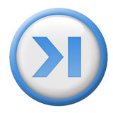 Next track button. Blue and white menu button Royalty Free Stock Photo