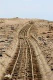 Next tread. ATV trail tread on the sand Stock Photography