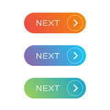 Next Web button set Stock Images