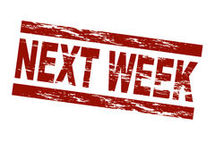 Next week Stock Images