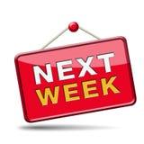 Next week. Coming soon near future agenda time schedule calendar vector illustration