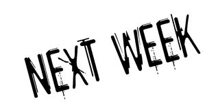 Next Week rubber stamp. Grunge design with dust scratches. Effects can be easily removed for a clean, crisp look. Color is easily changed Royalty Free Stock Images