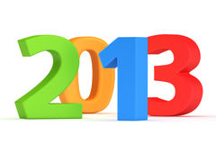 Next year 2013. Big colorful digits 2013 on the white background royalty free illustration