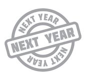 Next Year rubber stamp. Grunge design with dust scratches. Effects can be easily removed for a clean, crisp look. Color is easily changed Stock Photography