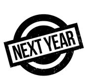 Next Year rubber stamp. Grunge design with dust scratches. Effects can be easily removed for a clean, crisp look. Color is easily changed Royalty Free Stock Photography