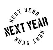 Next Year rubber stamp. Grunge design with dust scratches. Effects can be easily removed for a clean, crisp look. Color is easily changed Royalty Free Stock Image