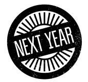 Next Year rubber stamp. Grunge design with dust scratches. Effects can be easily removed for a clean, crisp look. Color is easily changed Stock Photos